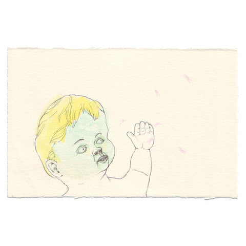 Original Drawing by Marie Gardeski | Baby Play