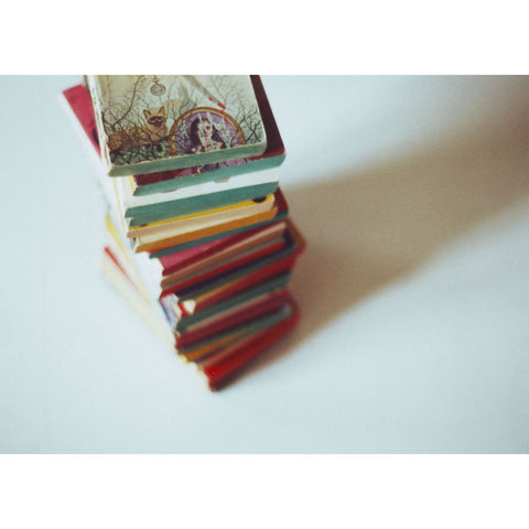 Agatha Christie Book Stack | Film Photo Postcard