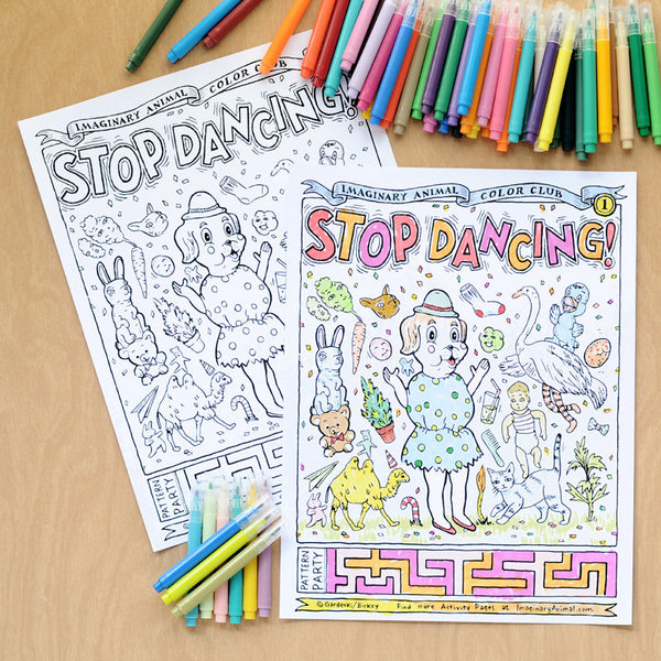 Color Club Page #1 | Stop Dancing! | Instant Download Printable PDF