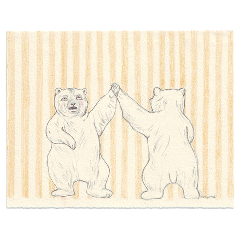 Original Drawing by Marie Gardeski | Bear Dance
