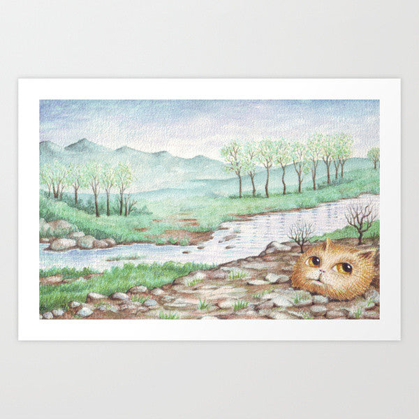 Fine Art Print | River Cat