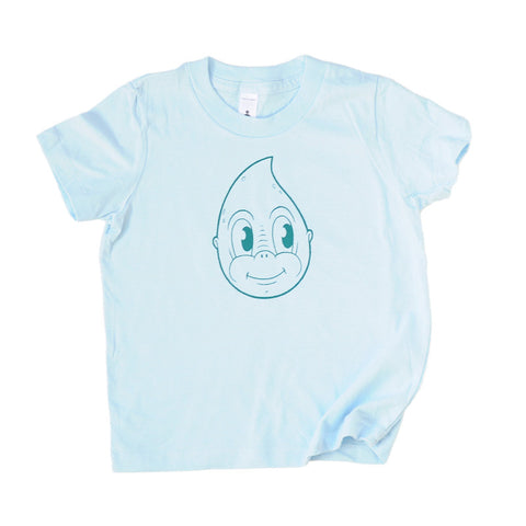 Funny Kids Tee | Original Cartoon Drip on Blue | Designed by David Birkey