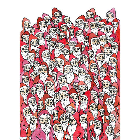 Santa Illustration Holiday Greeting Cards | Every Last Santa