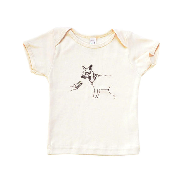 Cute Fox Baby Tee | Organic Cotton | Designed by marie gardeski