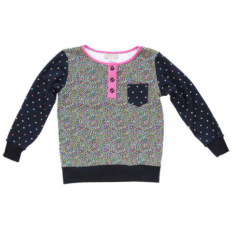 Handmade One of a Kind | Candy Confetti Knit Top | Girls Size 5