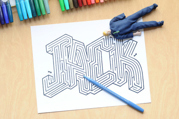 Personalized Jack Name Maze - Instant Download Printable PDF