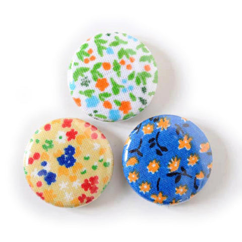 Vintage Fabric Magnets | Tiny Flowers | Handmade with Tiny Floral Calico