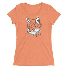Ladies Foxy Fox Illustration T Shirt