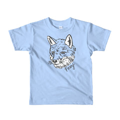 Furry Foxy Fox Kid's Short Sleeve Cotton T-Shirt | Funny, Quirky and Cute Hand Drawn Wild Animal Illustration | 2, 4, 6 years