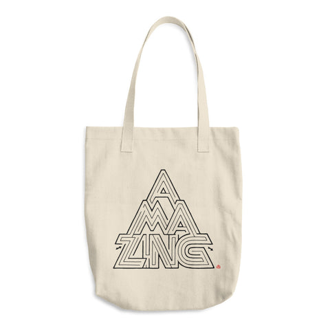 Amazing Maze Cotton Tote Bag | Hand-Lettering Hand-Designed Word Game Puzzle
