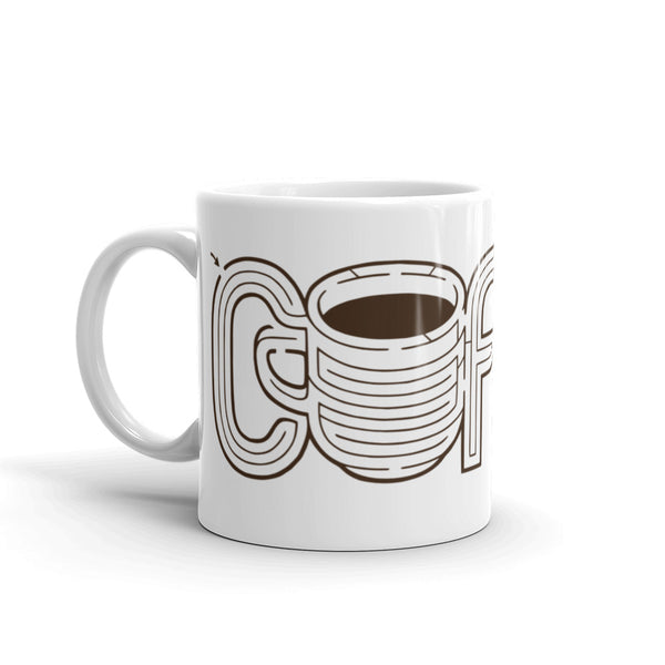 Coffee Maze Mug | Hand-Lettering Cup of Joe Puzzle