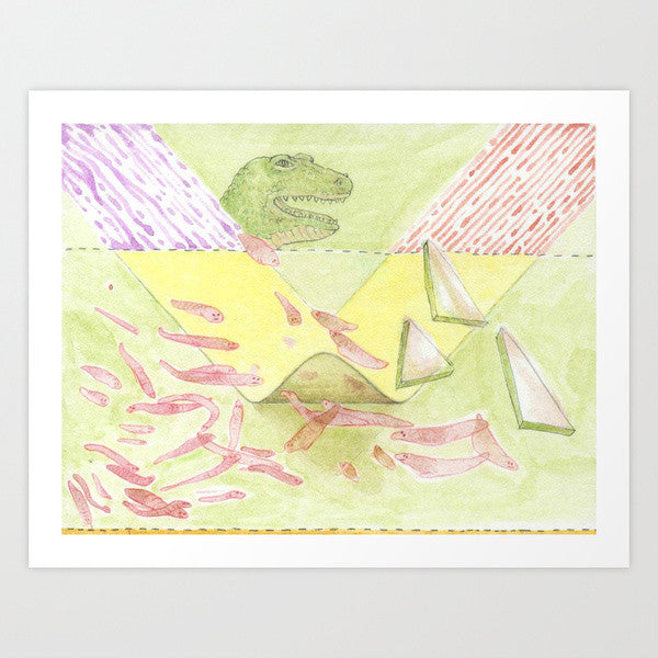 Fine Art Print | Prehistoric Flatworms
