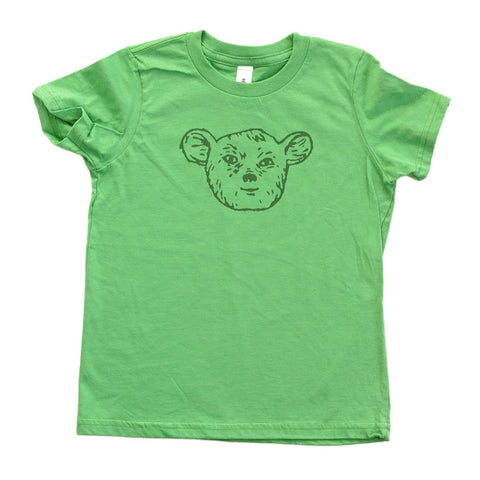 Sleepy Creature - Grass Green Kids Tee