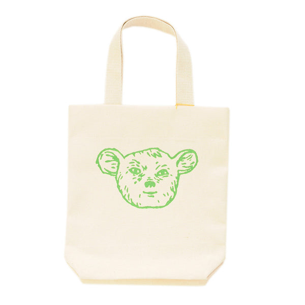 Kids Tote | Cotton Canvas Screen Printed With Cute Green Sleepy Creature