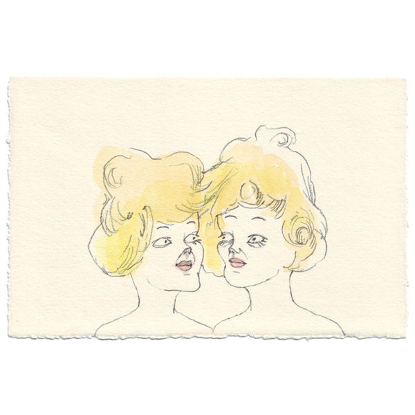 Original Drawing by Marie Gardeski | Hair Share | Twins