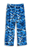 Top Trenz Pants Blue Camo Fuzzy Lounge Pants