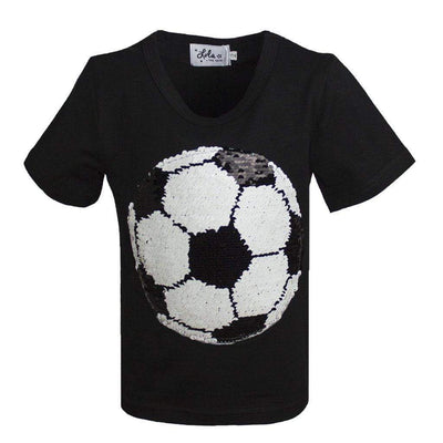 Lola & The Boys Soccer Ball Flip Tee