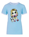 Lola + The Boys Tees Doll and Kitty Sequin Ringer T-Shirt