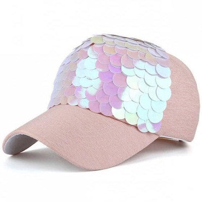 Lola + The Boys Pink Twinkling Mermaid Scale Hat