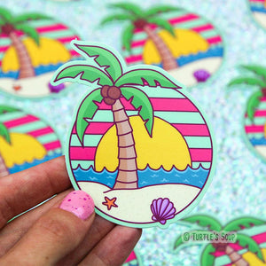 Vinyl Stickers | Tropical Sunset - Leo + Cullie