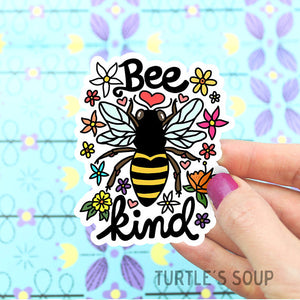 Vinyl Sticker | Bee Kind - Leo + Cullie
