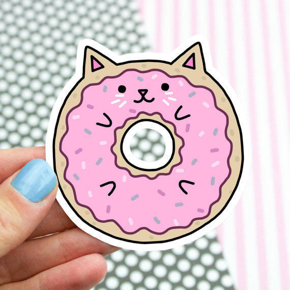 Vinyl Sticker | Donut Cat - Leo + Cullie