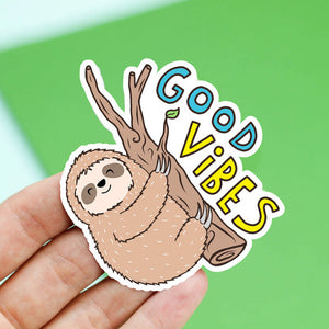 Vinyl Sticker | Good Vibes - Leo + Cullie
