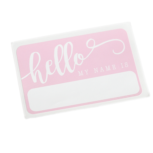 """Hello"" Name Tag - Pink - Leo + Cullie"