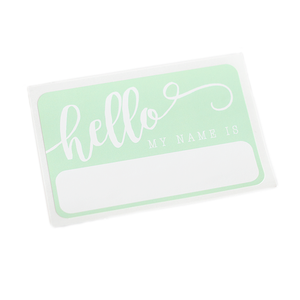 """Hello"" Name Tag - Mint - Leo + Cullie"