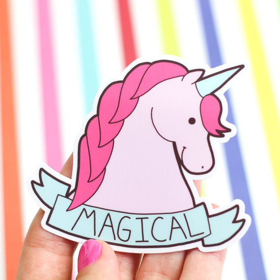 Vinyl Sticker | Magical Unicorn - Leo + Cullie