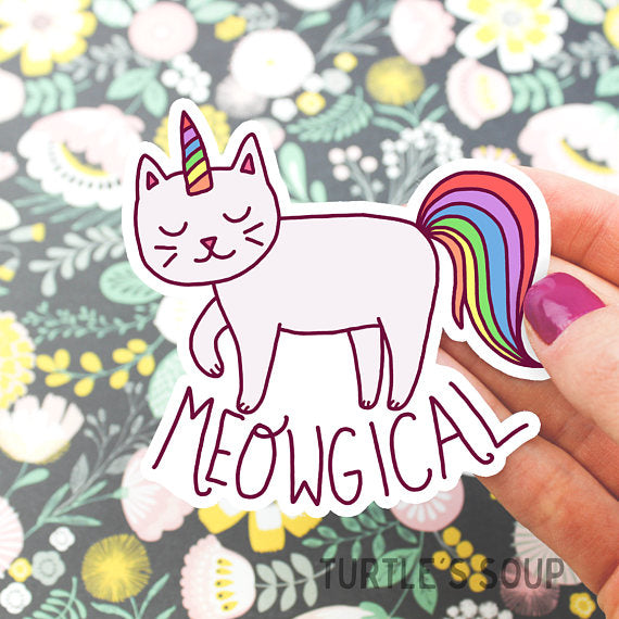 Vinyl Sticker | Meowgical Kitty - Leo + Cullie