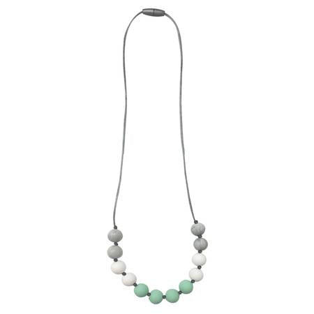 Mint Petite Strand Teething Necklace - Leo + Cullie