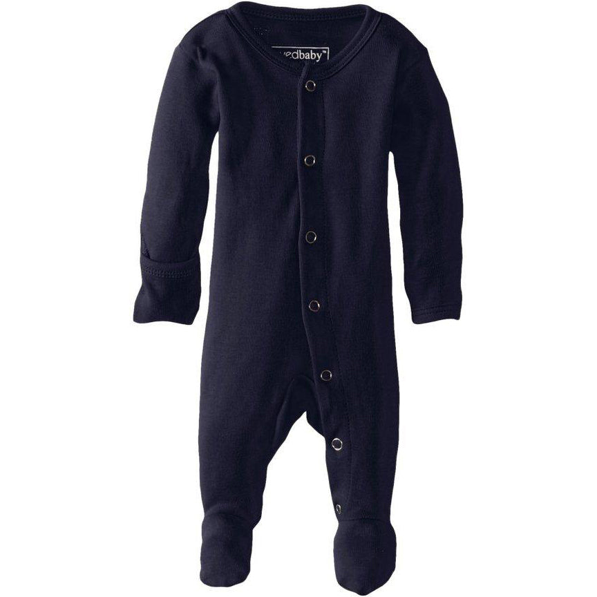 Organic Footed Romper | Navy - Leo + Cullie