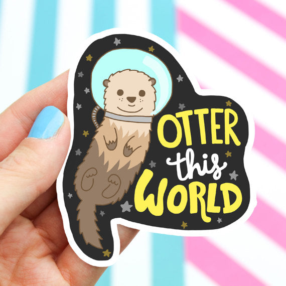 Vinyl Sticker | Otter This World! - Leo + Cullie