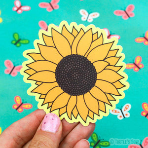 Vinyl Sticker | Hello Sunflower! - Leo + Cullie