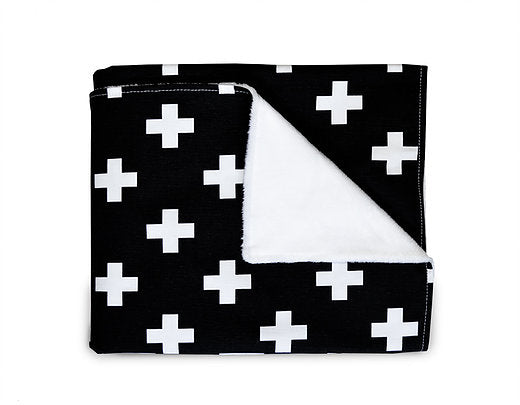 Black Cross Blanket - Leo + Cullie