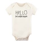 Hello I'm New Here | Organic Bodysuit - Leo + Cullie