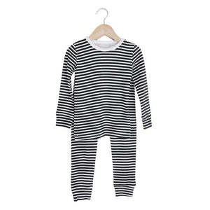 Organic Pajama Set | Stripes - Leo + Cullie