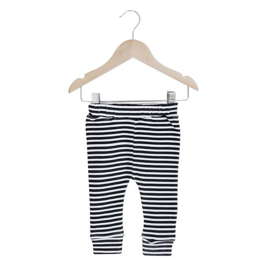 Organic Basic Pant | Stripes - Leo + Cullie