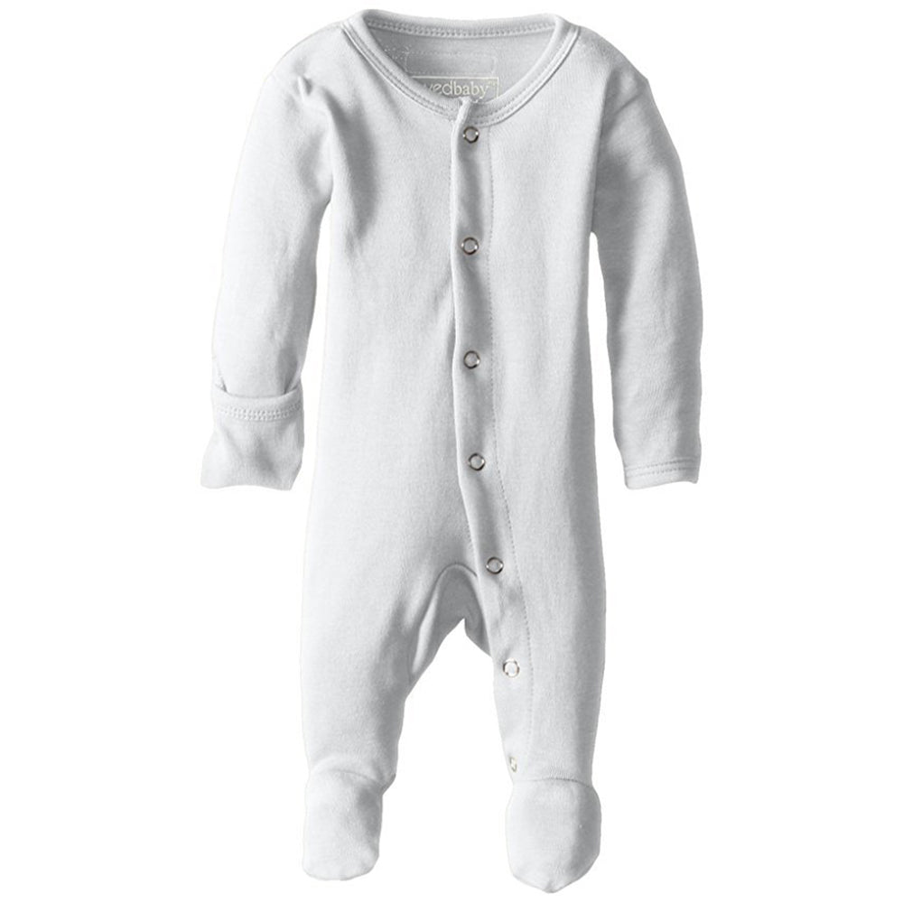 Organic Footed Romper | White - Leo + Cullie