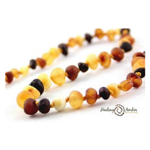 "Amber 7.5"" Adult Bracelet Raw Multi"