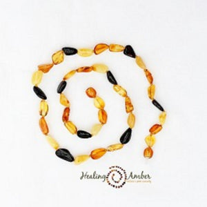 "Amber 9"" Adult Bracelet Raw Multi"