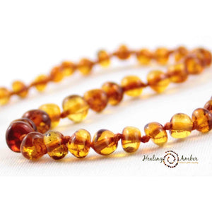 "Amber 18"" Adult Necklace Caramel"