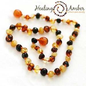 "Amber 20"" Adult Necklace Multi Circle"