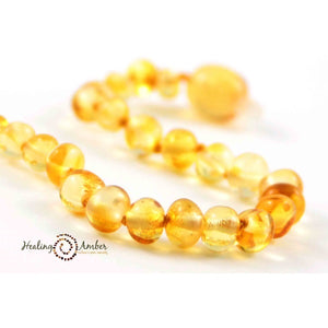 "Amber 13"" Baby Necklace Liquid Gold"