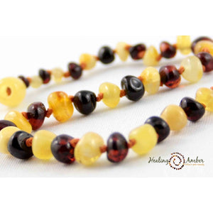 "Amber 11"" Baby Necklace Molasses-Cream"