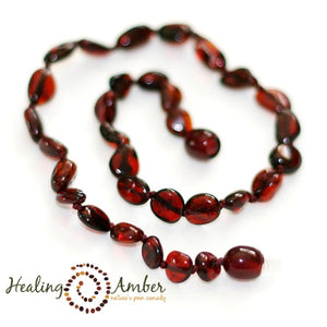"Amber 15"" Youth Necklace Molasses"