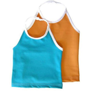 SWIM TANKINI - ORANGE - 12-24 MONT