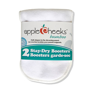 Applecheeks Staydry Bamboo Booster 2pk