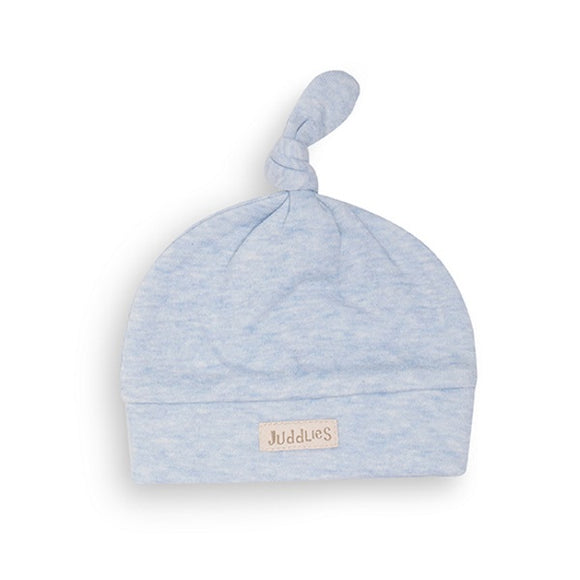 Juddlies Newborn Hat Blue Fleck